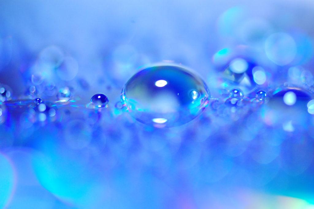 マクロレンズ撮影 水滴 キラキラ写真