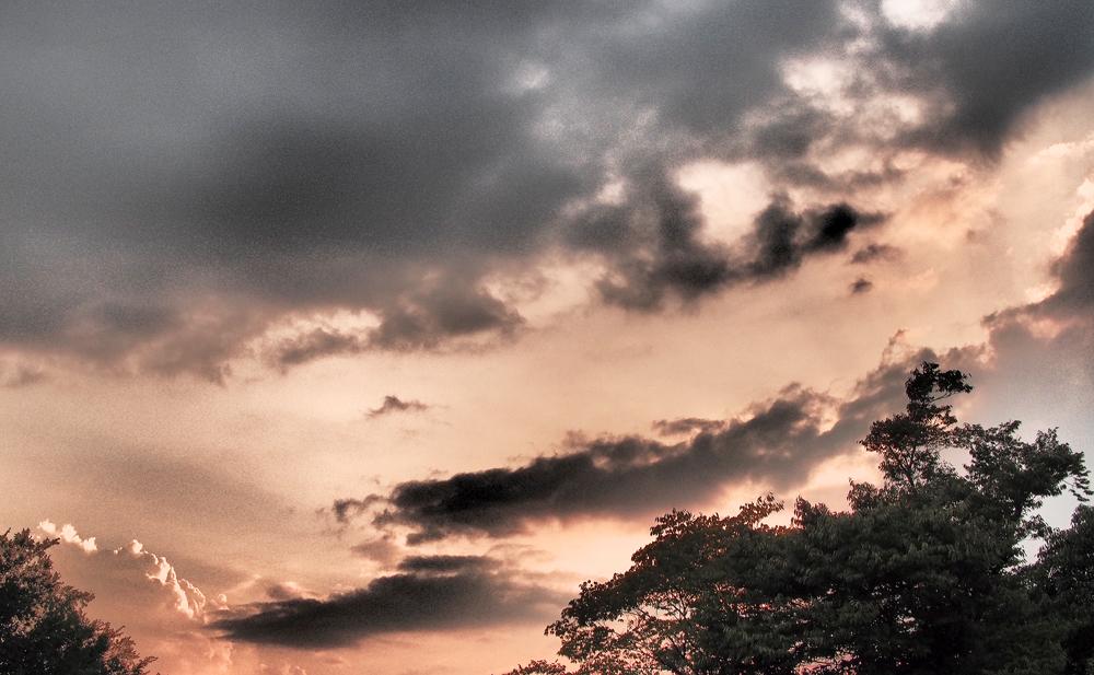 夕暮れの空 単焦点レンズで撮影