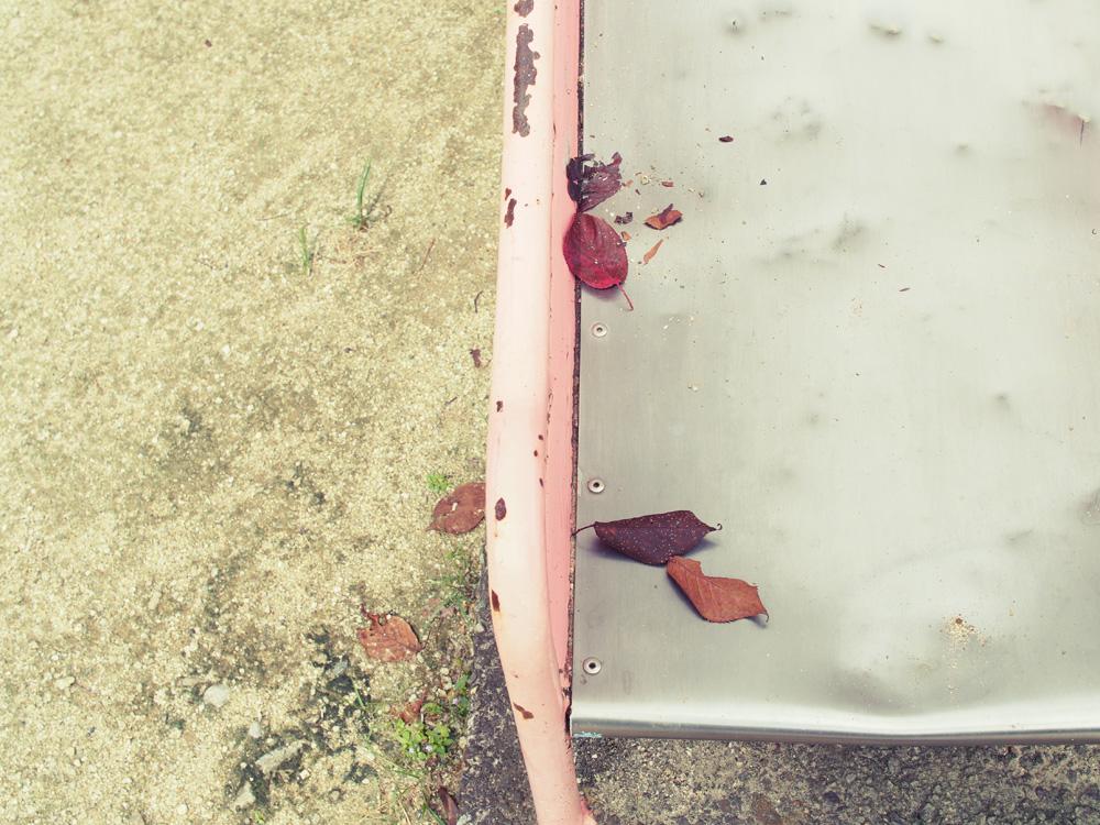 おさんぽ写真 ハイキー&フィルム気味に公園の滑り台を撮影