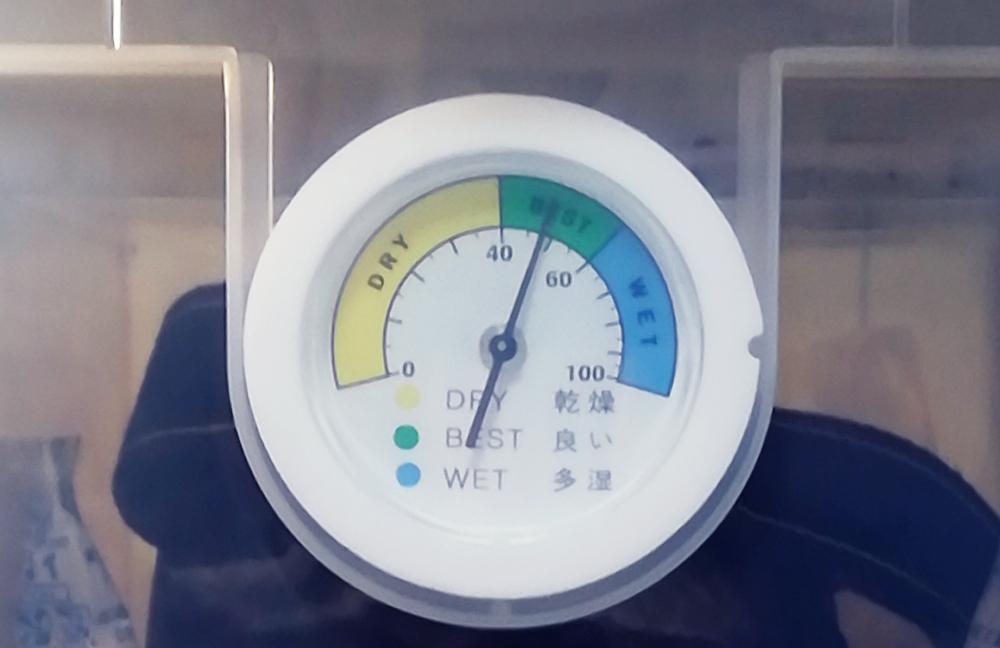 ナカバヤシ キャパティドライボックスは湿度計をセットできる
