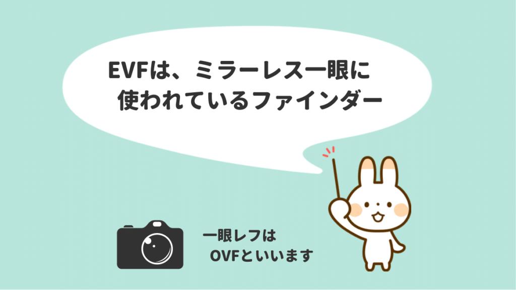 EVF(電子ビューファインダー)とは