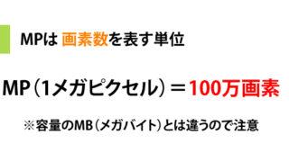 画素数や解像度で使われる「MP」とは。1MPは何万画素のこと?