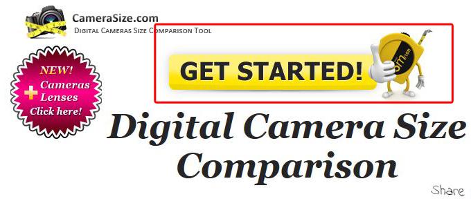 「CameraSize.com」トップ画面