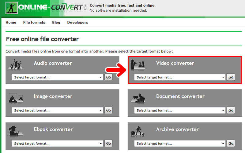 動画の圧縮に役立つ「Online converter」